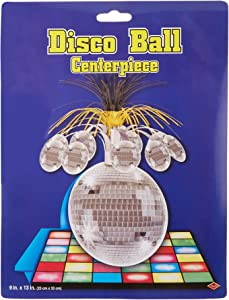 "Disco Ball Centerpiece Party Accessory (1 count) (1/Pkg) -9"" X 13"""