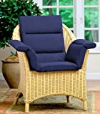 Pressure Reducing Chair Cushion, Navy - Wheelchair, armchair, patio chair cushion - Generous sized, washable, polyester/cotton surface