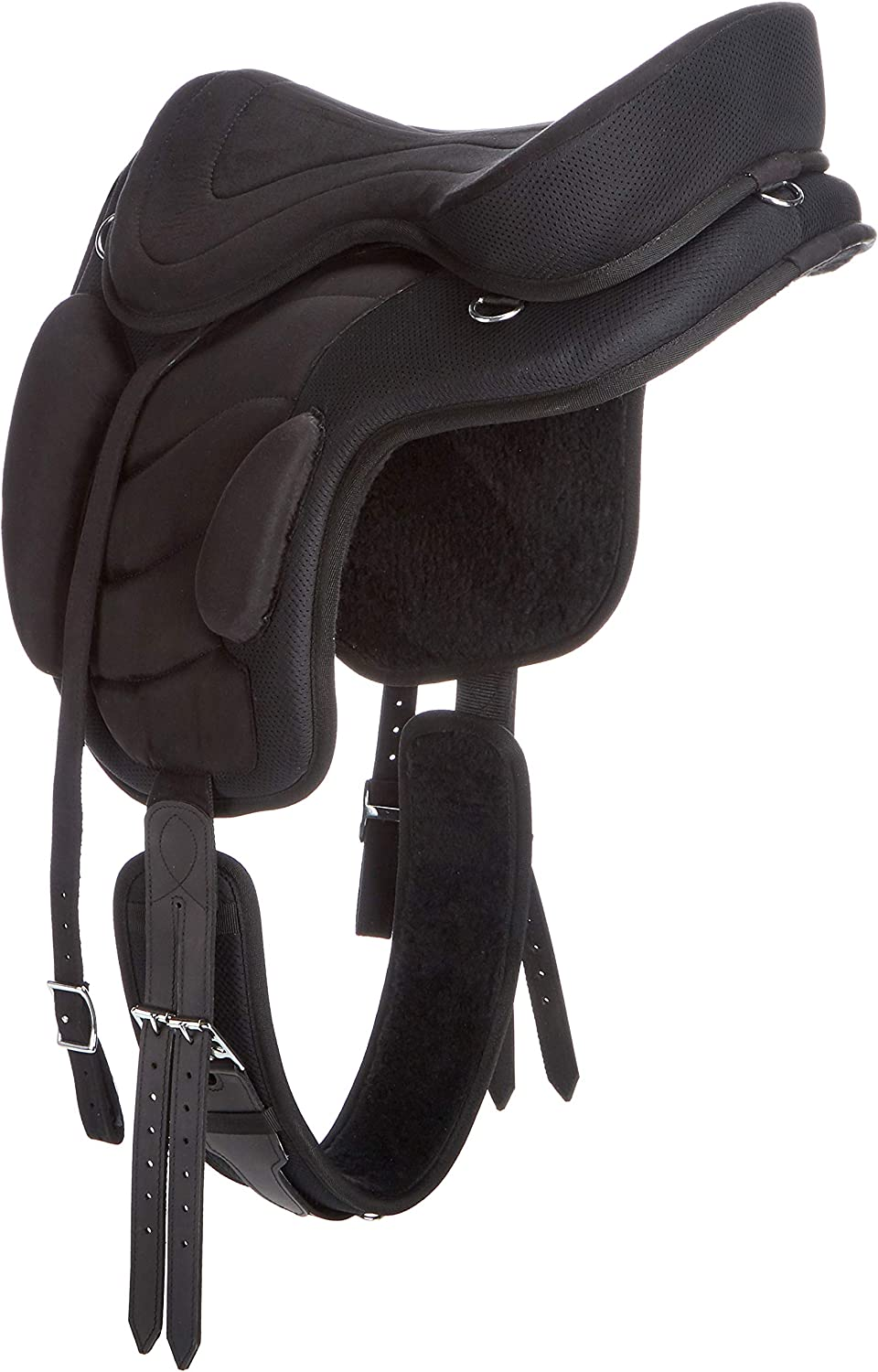 Cwell Equine New Synthetic All Purpose Treeless Saddle BLACK Sizes 16//16.5//17 17.5