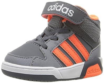 adidas NEO Boys' BB9TIS Mid Inf Sneaker, Onix/Warning/Tech Grey,