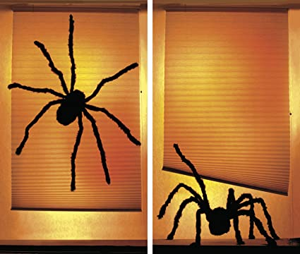 wowindow posters shady spiders creepy halloween window decoration includes two 345x60 backlit plastic - Halloween Window Decor
