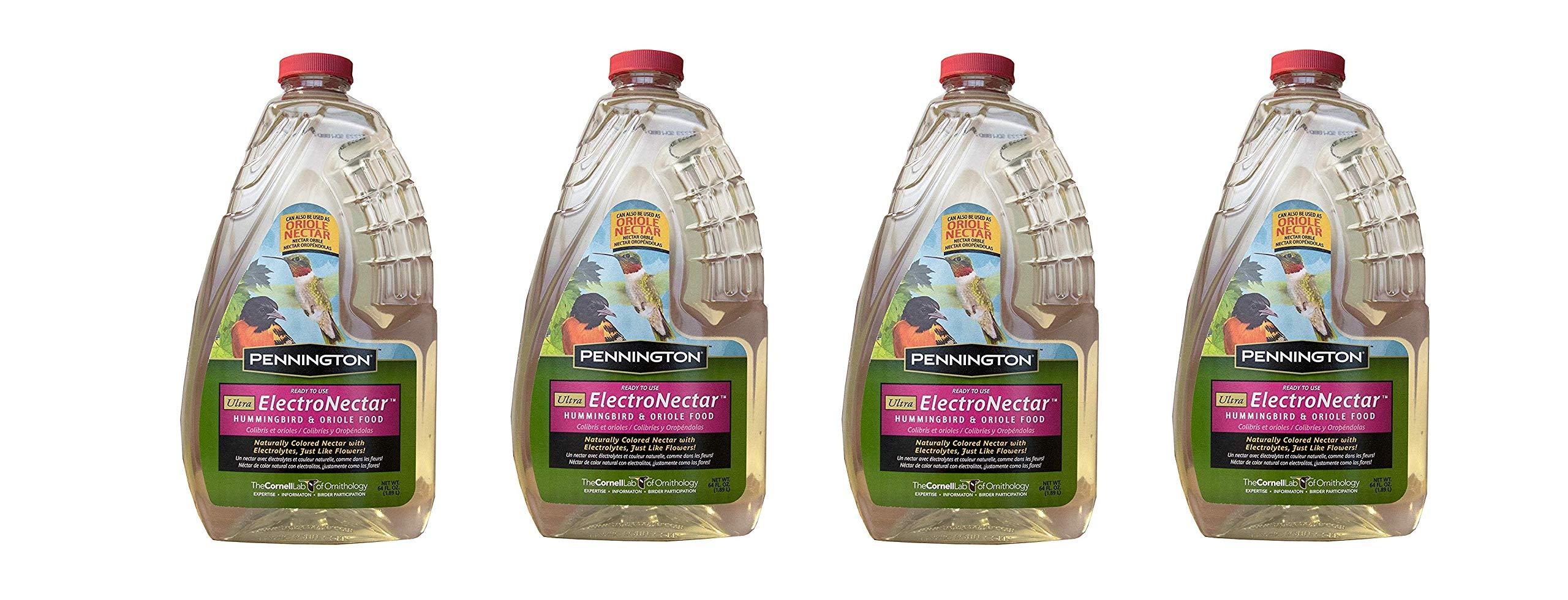 Pennington 100510152 ElectroNectar Ready to Use Hummingbird Nectar, 64 oz Clear (4-Pack)