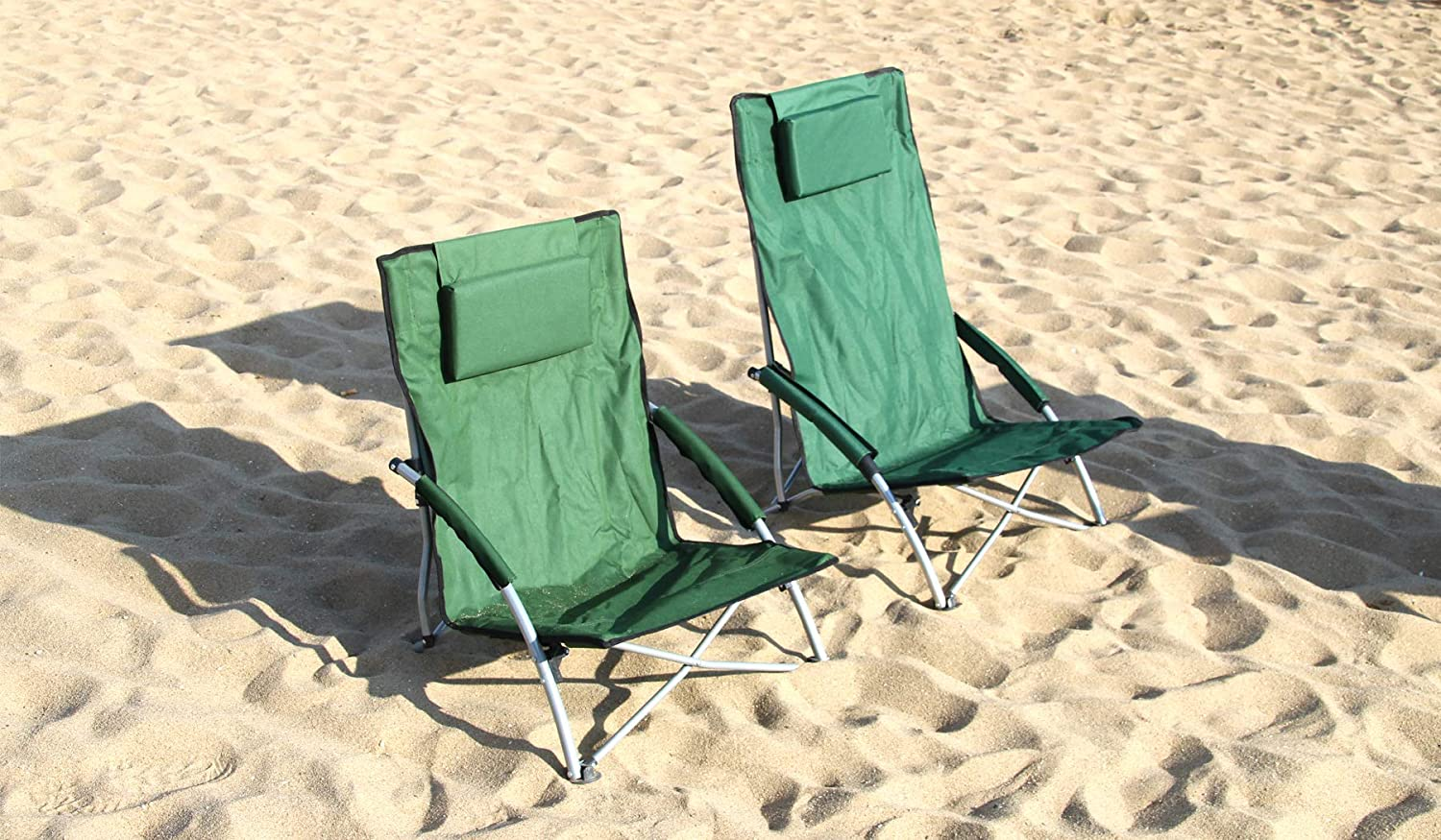 HJ HELLO JOURNEY Low Sling Beach Chair Folding Lightweight