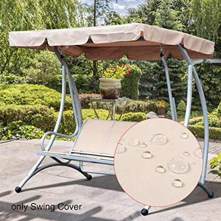 Garden Swing Chair Canopy Yard Spare Patio Cover Waterproof Replacement Outdoor