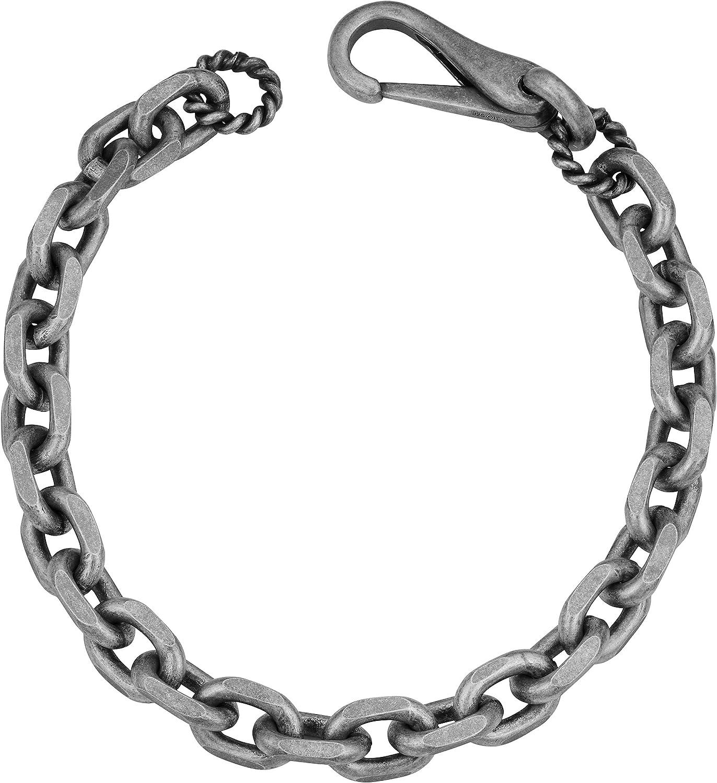 Sterling silver antique finish oval links fancy links bracelet Order any length