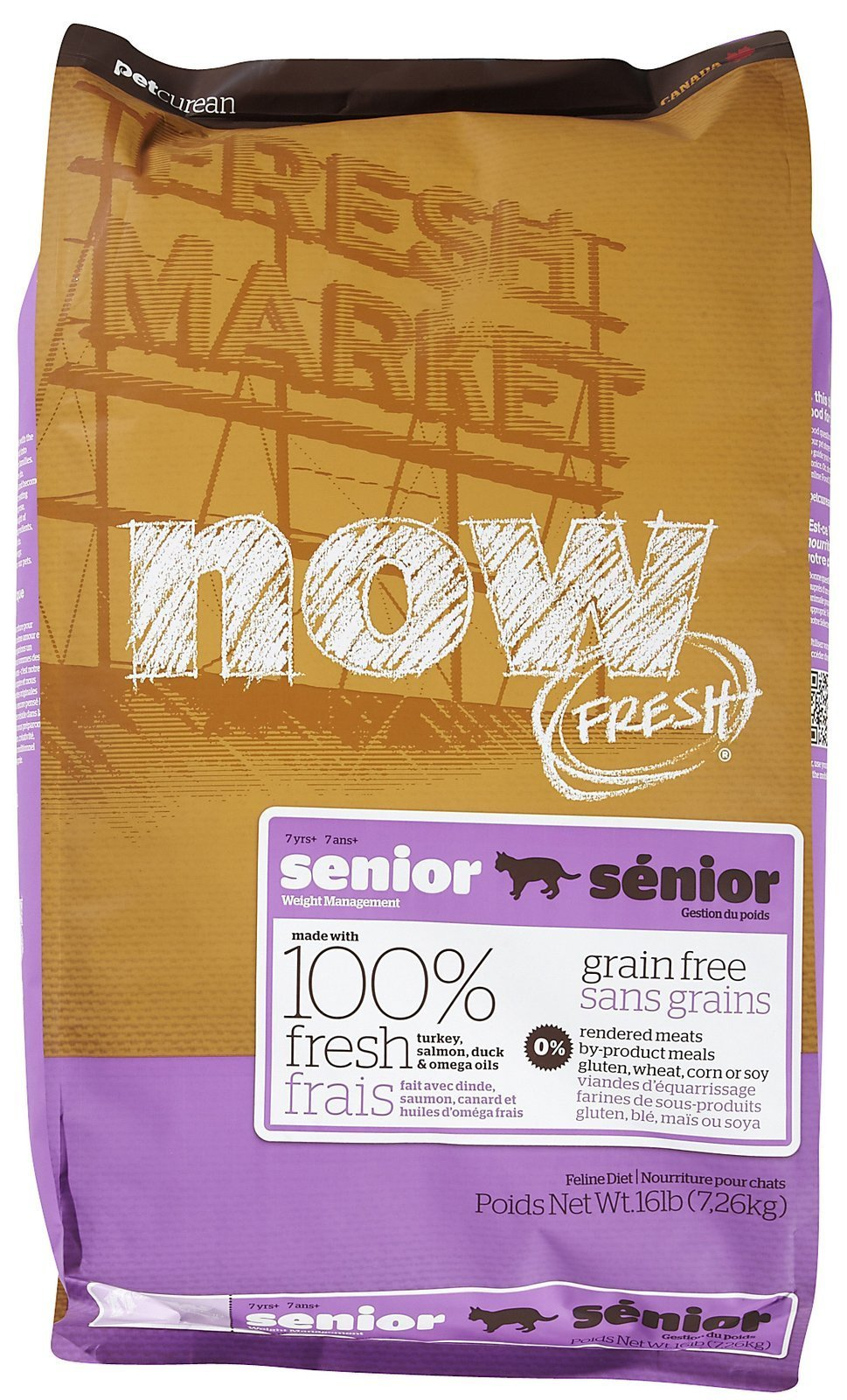 Now! 152324 Fresh Grain Free Food For Senior Cats, 16-Pound Bag by Now!
