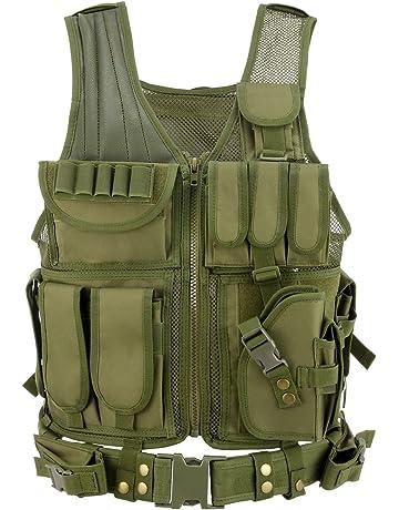 Gonex - Chaleco militar táctico de combate negro bc0d42c8de34
