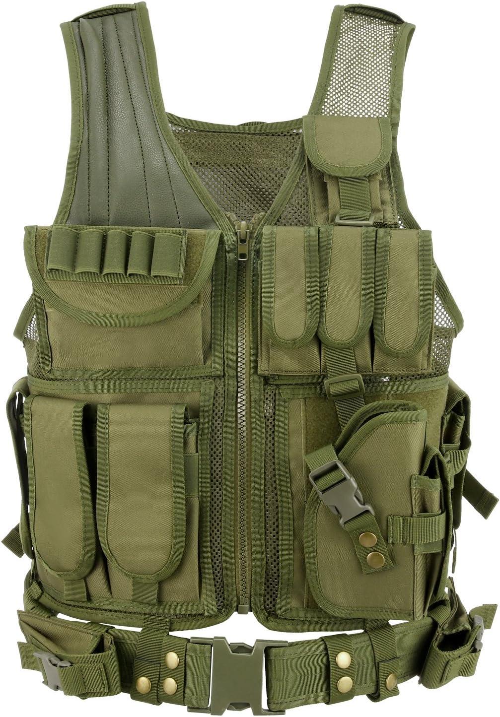 Gonex Chaleco T/áctico de Hombre Militar MOLLE Chaqueta Antibalas de Protecci/ón Camuflaje para Airsoft CS Game Paintball Swat Policia Combate Cosplay Entrenamiento Formaci/ón Caza Deporte al Aire Libre