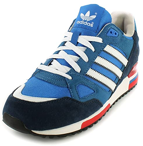 db88bf79bb62 New Mens Gents Blue White Adidas Leather Lightweight Running Shoes -  Bluebird White - UK SIZE 8  Amazon.co.uk  Shoes   Bags