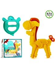 Ange Unisex Baby Gift Set Teether Carrier & Baby Teething toy 100% Safe & BPA-Free