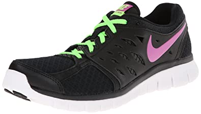 Nike Flex 2013 Run Running Black Synthetic Women Size 4Y