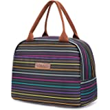 LOKASS Lunch Bag Cooler Bag Women Tote Bag Insulated Lunch Box Water-resistant Thermal Lunch Bag Soft Leak Proof Liner Lunch Bags for women/Picnic/Boating/Beach/Fishing/School/Work (rainbow)
