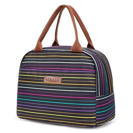 Amazon com: LOKASS Lunch Bag Cooler Bag Women Tote Bag