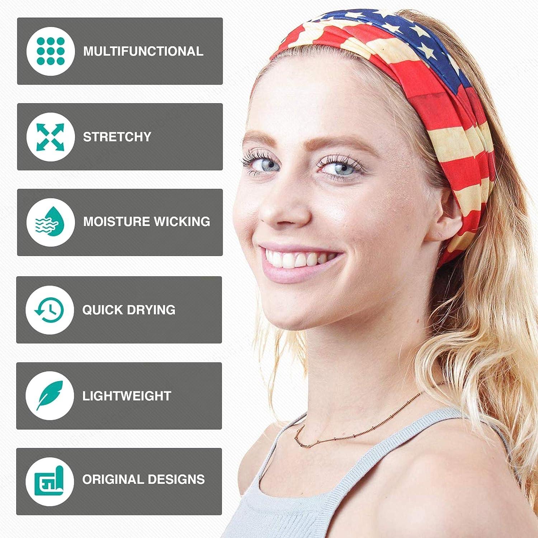 BEAFACE Sport Face Shield Bandana Stirnband Headwrap UV-Best/ändigkeit Kerchief Mikrofaser Multifunktionstuch Magie Kopfbedeckung