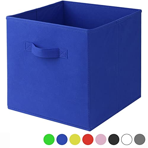 Square Collapsible Canvas Storage Box Foldable Kids Toys: Top Home Solutions 6 Pack Large Foldable Square Canvas