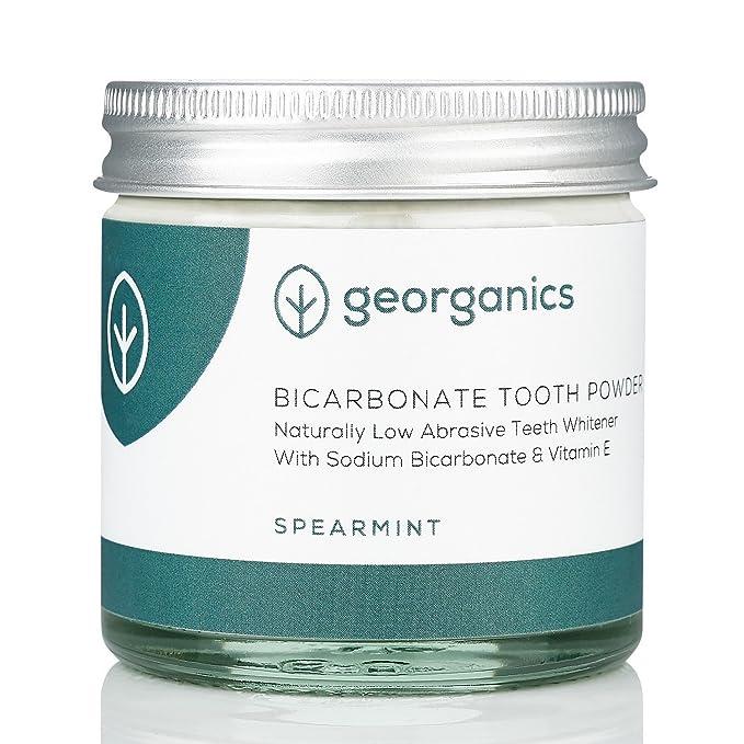 GEORGANICS - Blanqueador Dental en Polvo con bicarbonato y hierbabuena - Hierbabuena 60 ML -GEORGANICS- - GEOBLAHIERB60: Amazon.es: Salud y cuidado personal