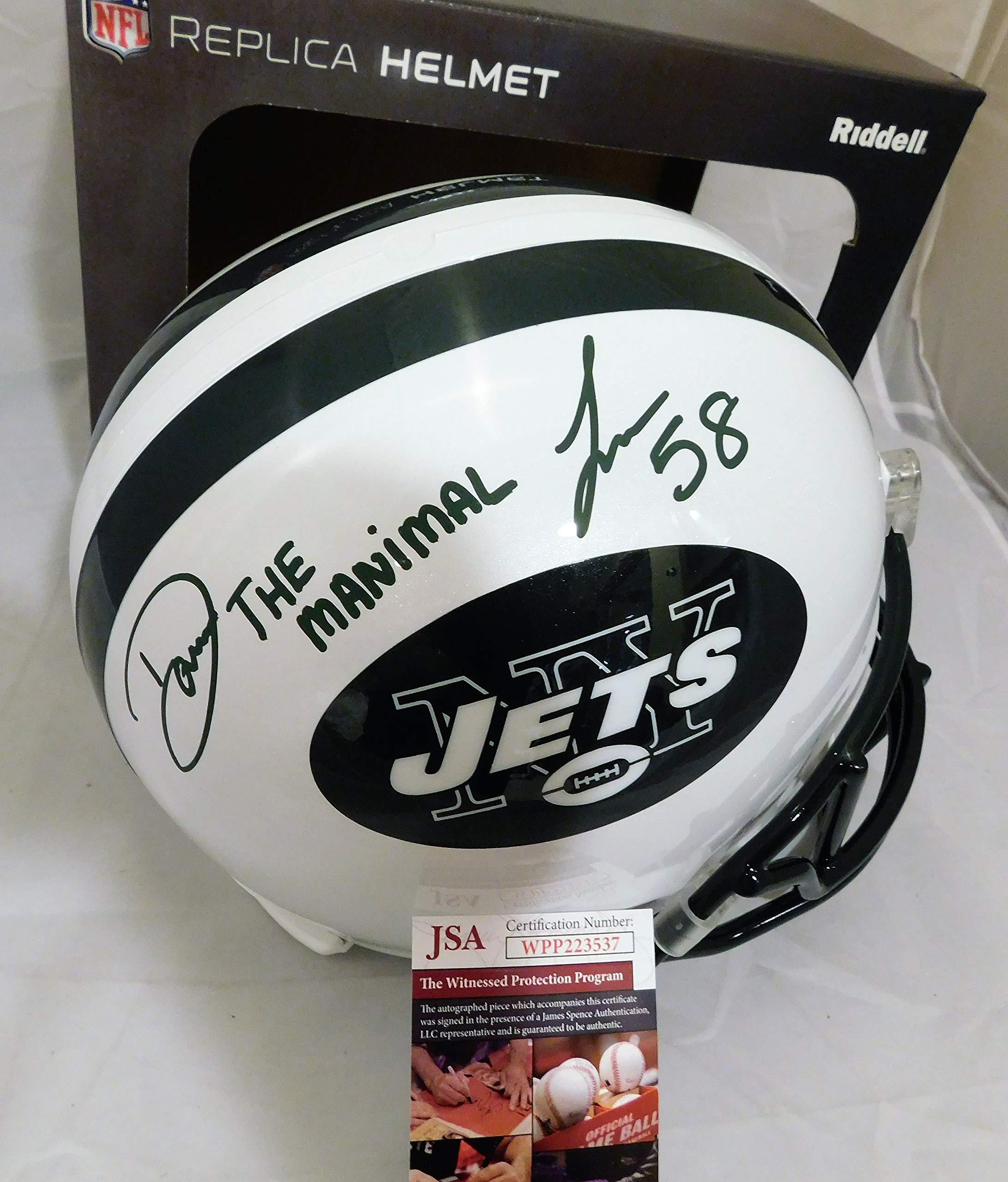Darron Lee Signed/Autographed Jets Full Size Helmet Inscribed Manimal. JSA Witness COA