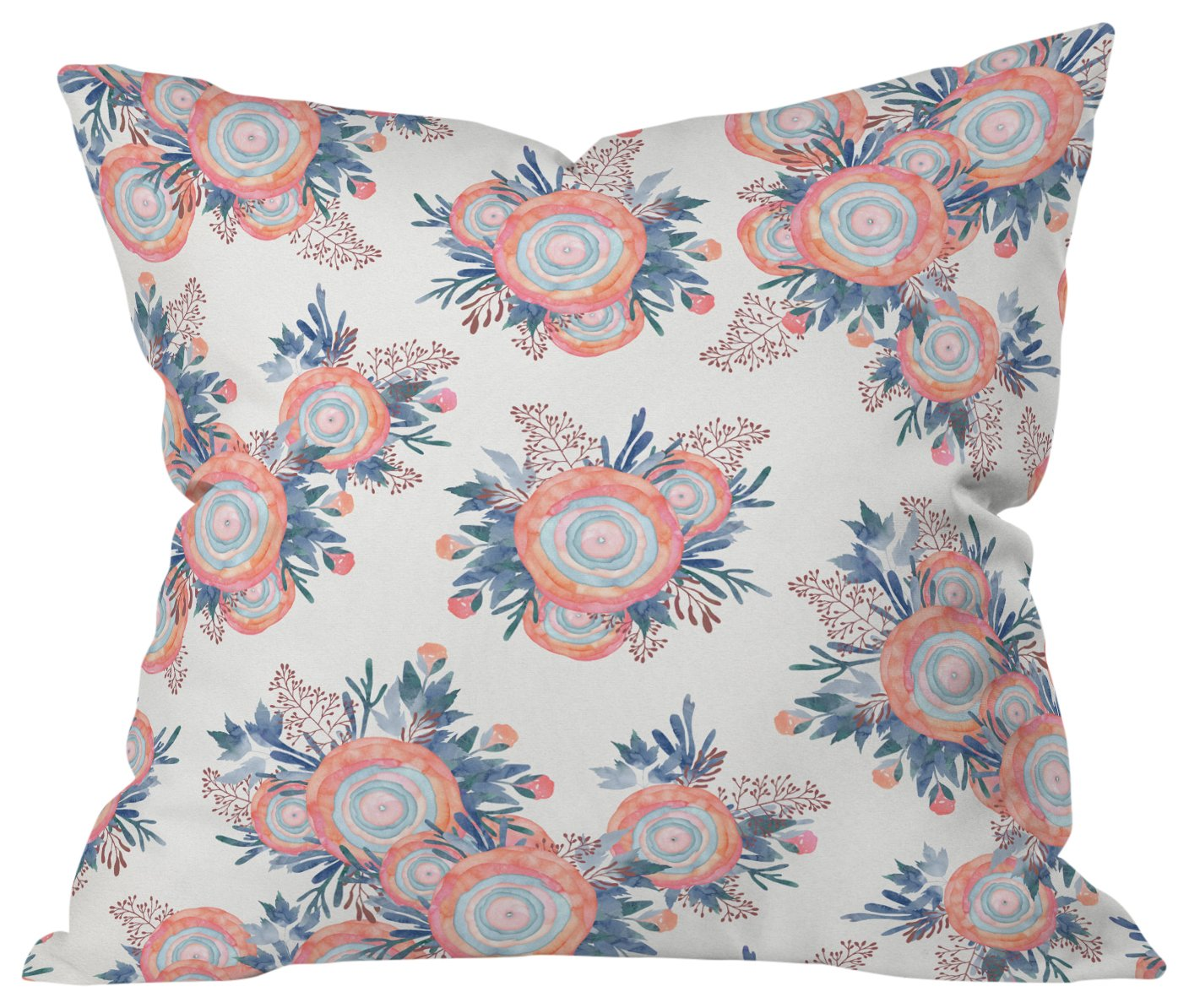 16 X 16 Deny Designs Iveta Abolina Cream Trails Outdoor Throw Pillow Home Kitchen Decorative Pillows Inserts Covers