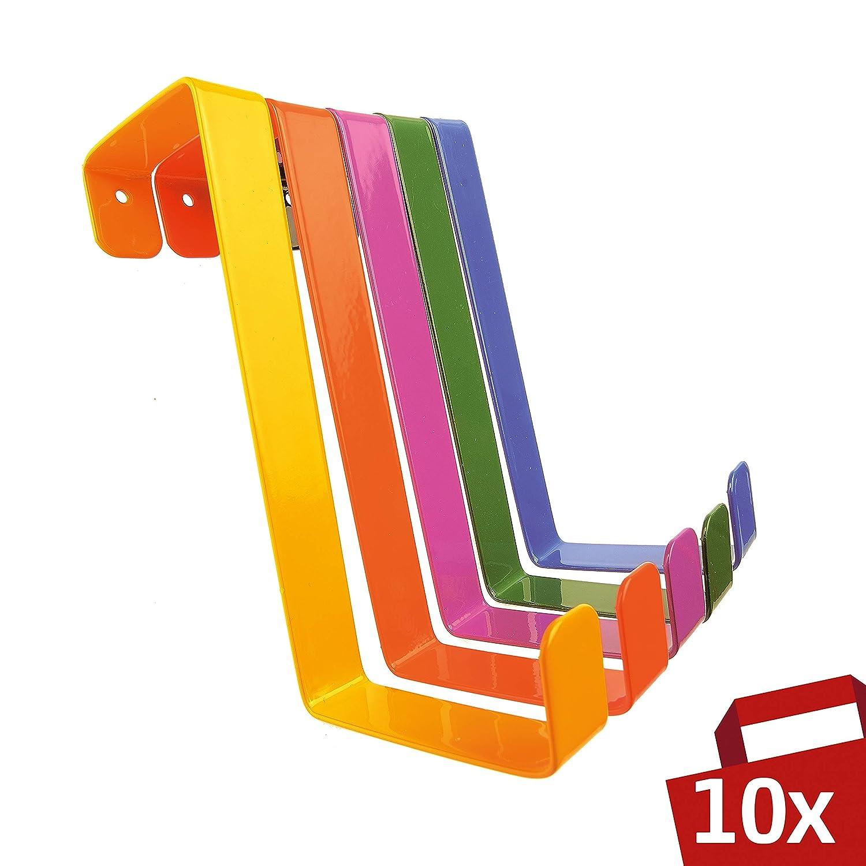 Sobre los ganchos de la puerta 10 piezas - Hecho en Alemania - Perchas y ganchos de las puertas – Multicolor