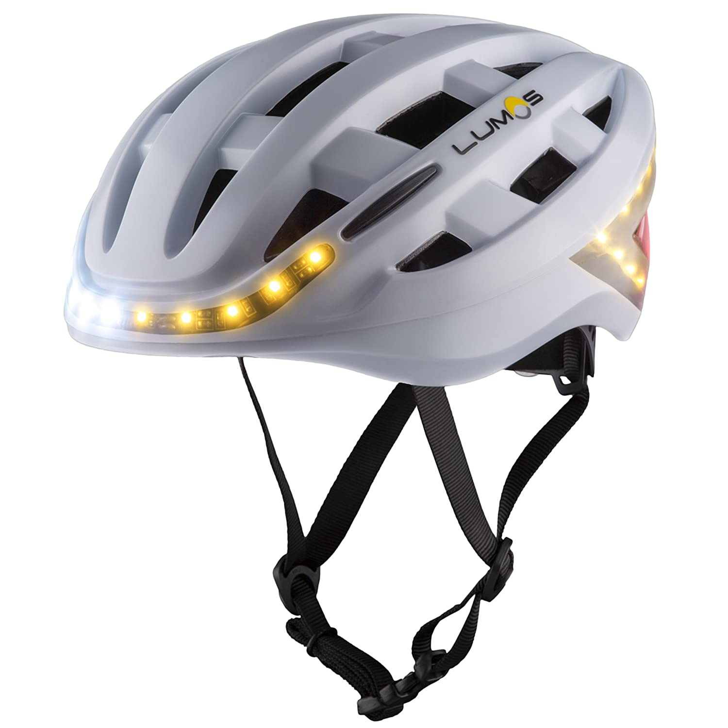 Lumos Smart Bike Helmet Wireless Turn Signal Handlebar Remote Built-in Motion Sensor – 70 LEDs on Front, Rear Sides – CPSC CE Certified Cycling Helmet Lumen Labs Inc. LKHEBKB