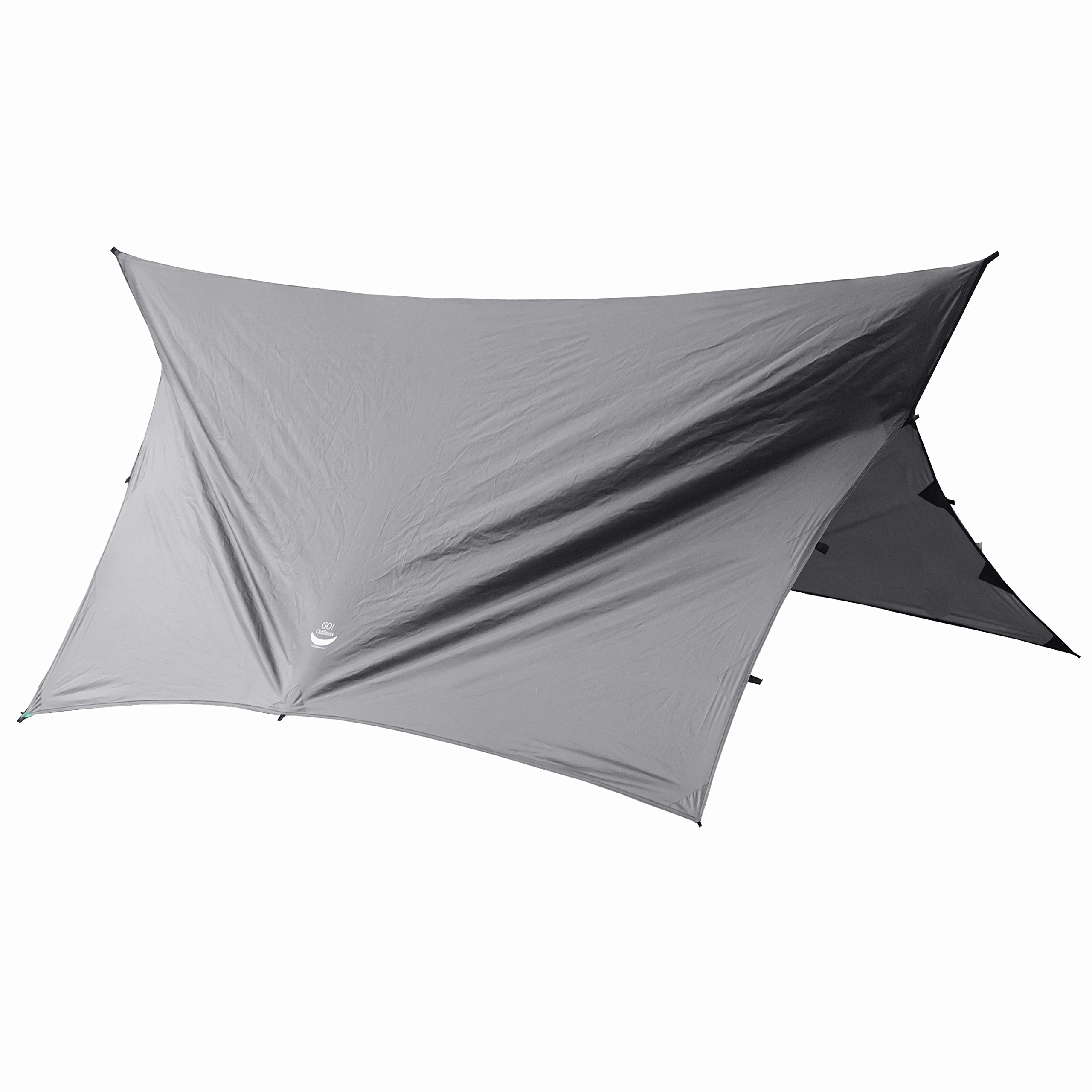 Go Outfitters Apex Camping Shelter/Hammock Tarp, Slate Gray by Go Outfitters