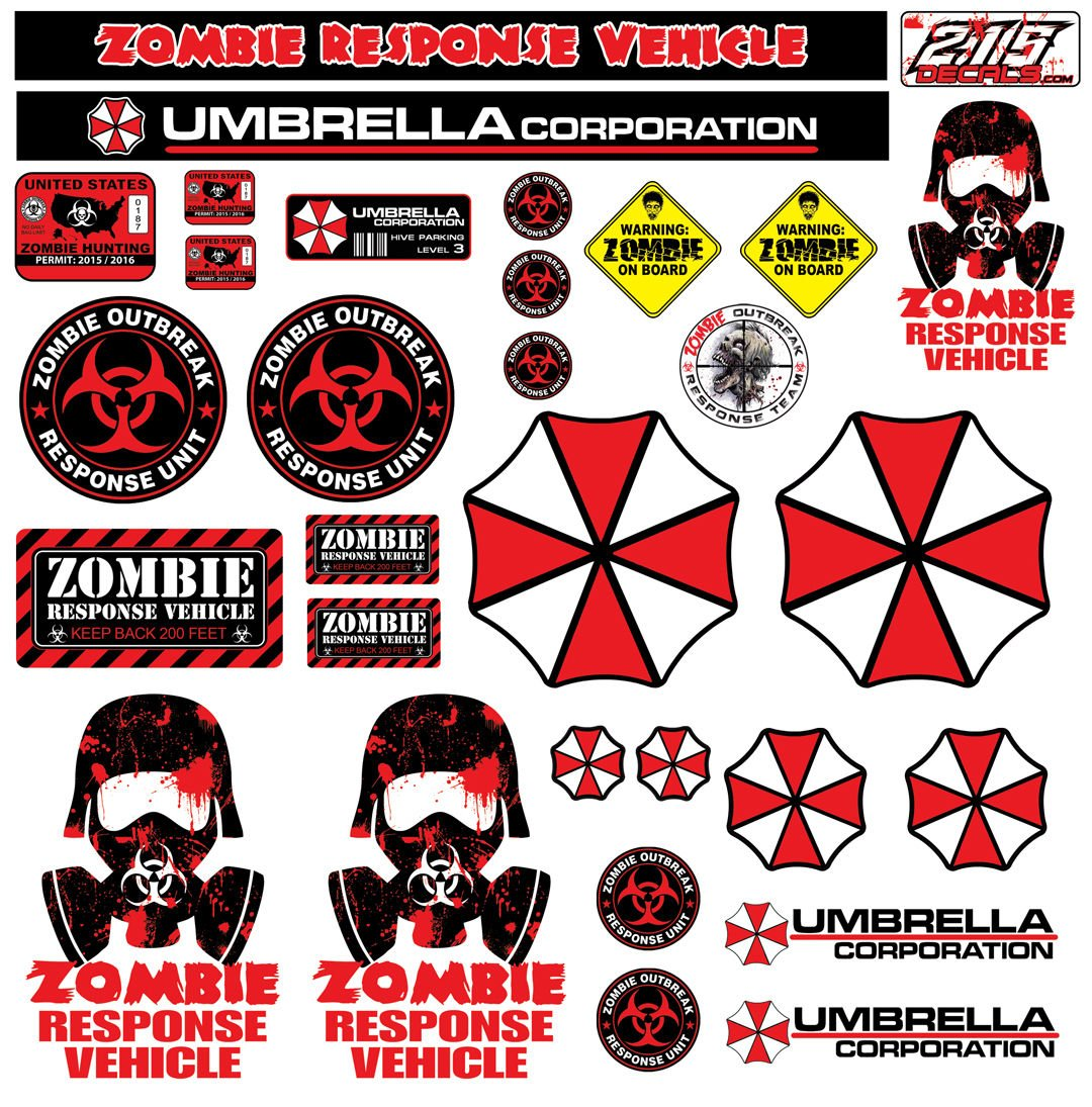Amazon com r c 110 scale zombie decal sticker pack set body axial scx10 wraith crawler rc toys games