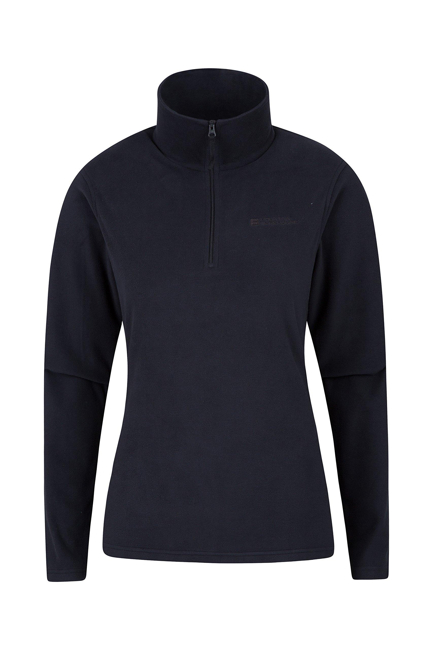 Mountain Warehouse Camber Womens Fleece Jacket -Breathable Ladies Top Black 16
