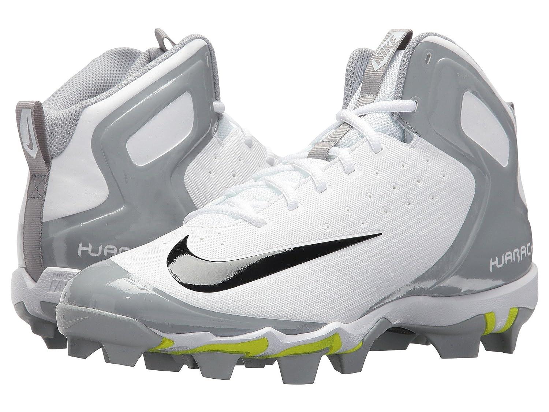 (ナイキ) NIKE メンズ野球ベースボールシューズ靴 Alpha Huarache Keystone Mid White/Black/White/Wolf Grey 8.5 (26.5cm) D Medium B078Q3MQVZ