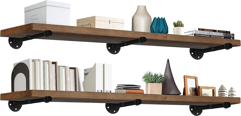 TEN49 Industrial Wood Shelf - 60