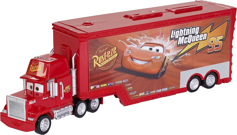 Amazon Com Disney Pixar Cars Mack Truck And Transporter Toys Games