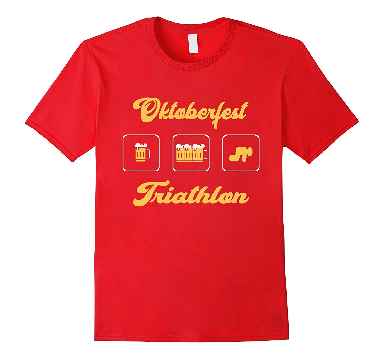 06d9745e Oktoberfest Triathlon T Shirt – Funny Octoberfest Beer Tees-CL – Colamaga