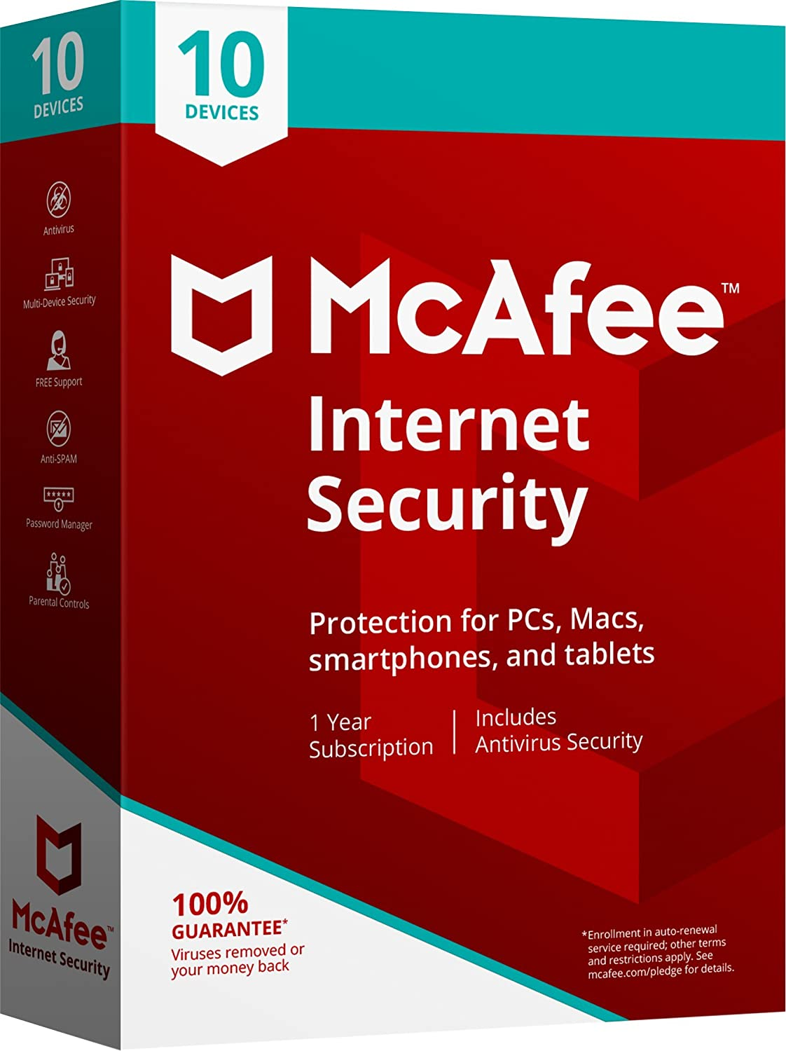 Amazon.com: McAfee 2018 Internet Security - 10 Devices [Obsolete]