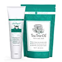 Our Best Kit for Foot Odor & Cracked Heels-Tea Tree Foot Soak with Foot & Body Cream-Eliminates...