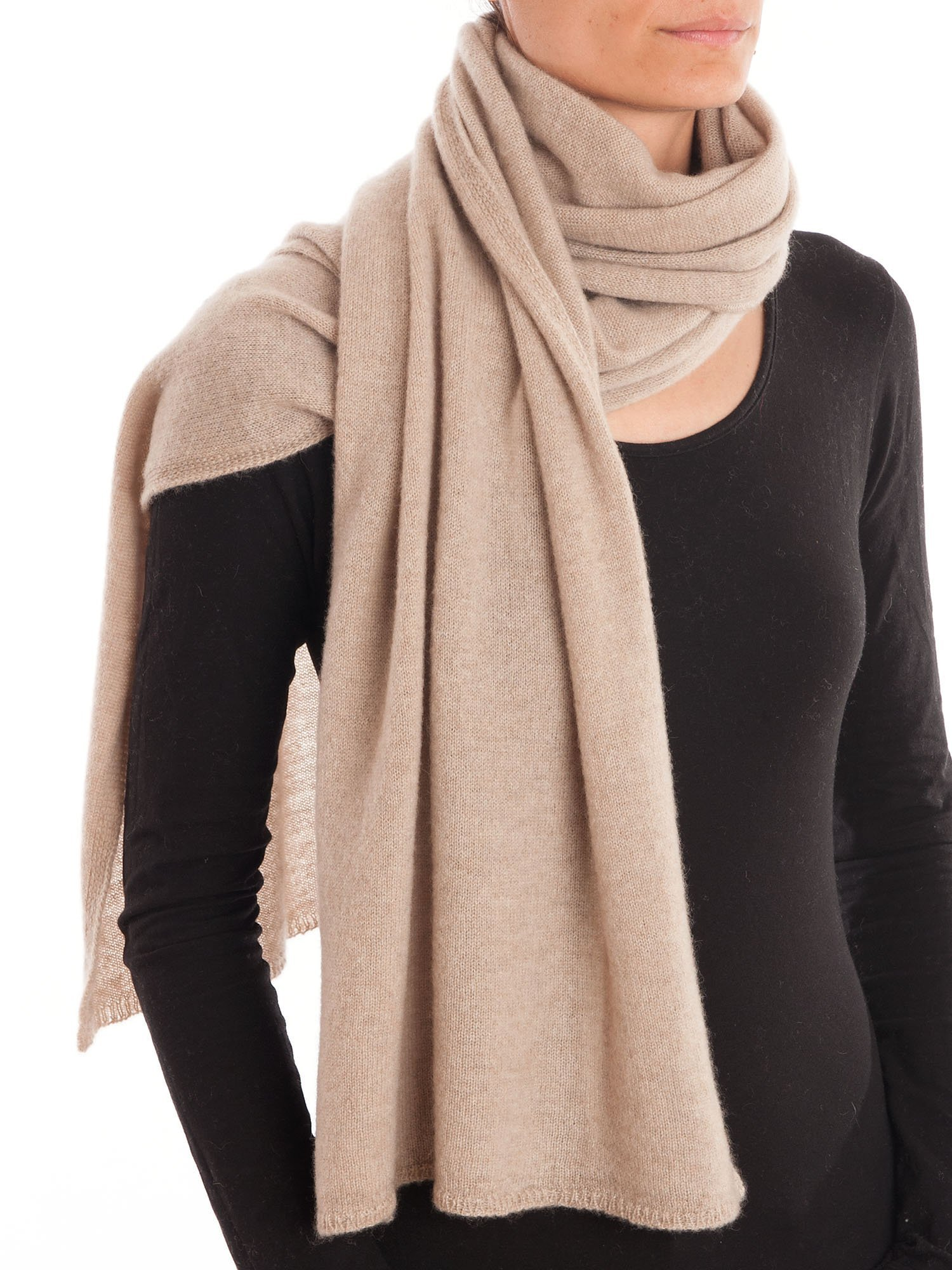 Dalle Piane Cashmere - Scarf 100% cashmere - Made in Italy - Woman/Man, Color: Beige, One size