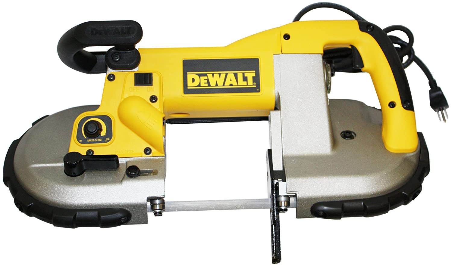 DEWALT D28770K 6 Amp 4-3 4-Inch-by-4-3 4-Inch Capacity 80 to 280 Feet Per Minute Variable Speed Portable Band Saw with Case