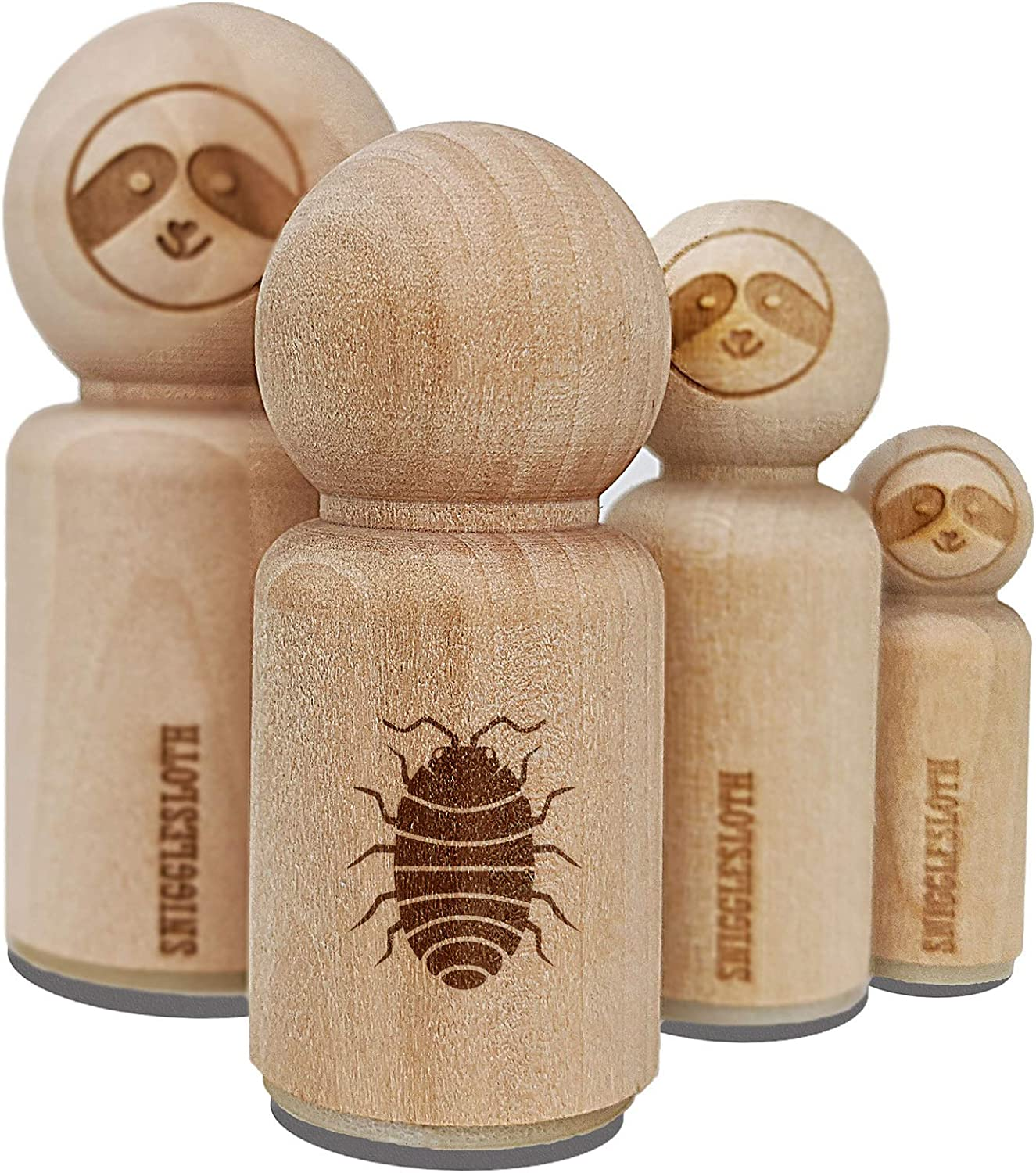 Isopod Pill Bug Woodlouse Rubber Stamp for Stamping Crafting Planners - 1-1/4 Inch Large