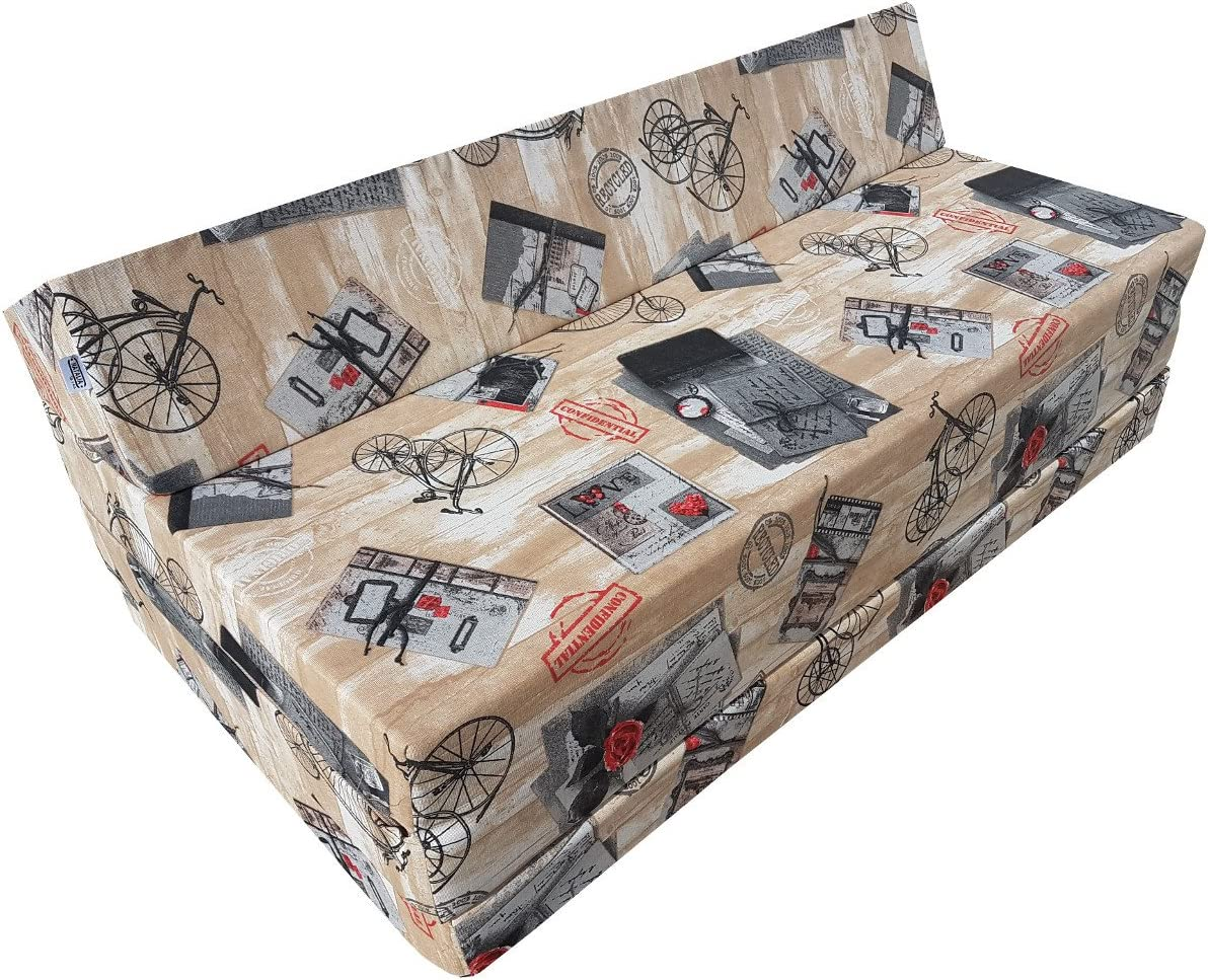 Natalia Spzoo Colchón plegable cama de invitados forma de sillón sofá de espuma 200 x 120 cm (Press)