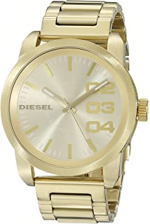Diesel Mens DZ1466 Double Down Gold Watch