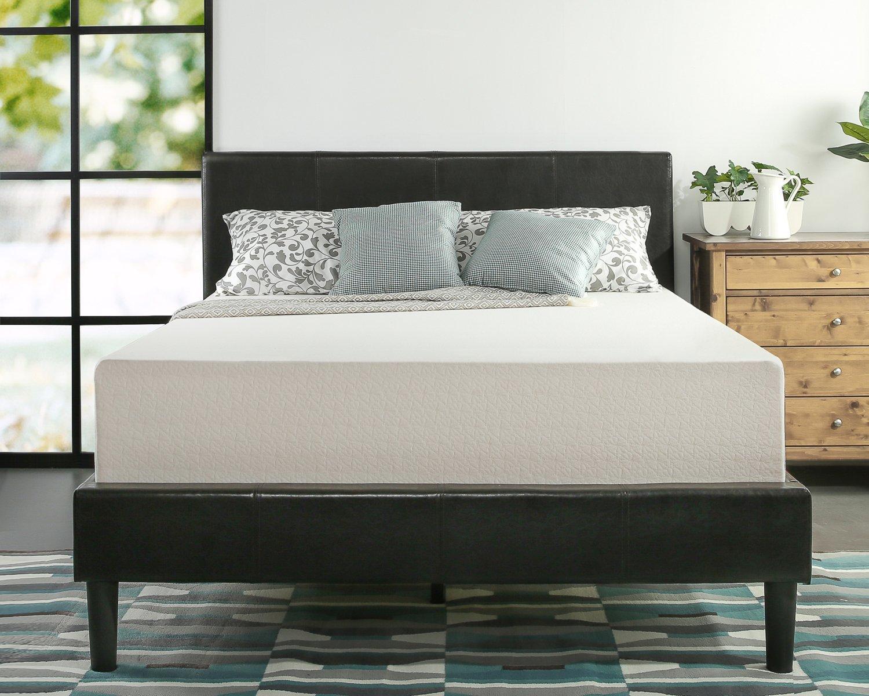 Made In America Bedroom Furniture Amazoncom Zinus Memory Foam 12 Inch Green Tea Mattress Queen