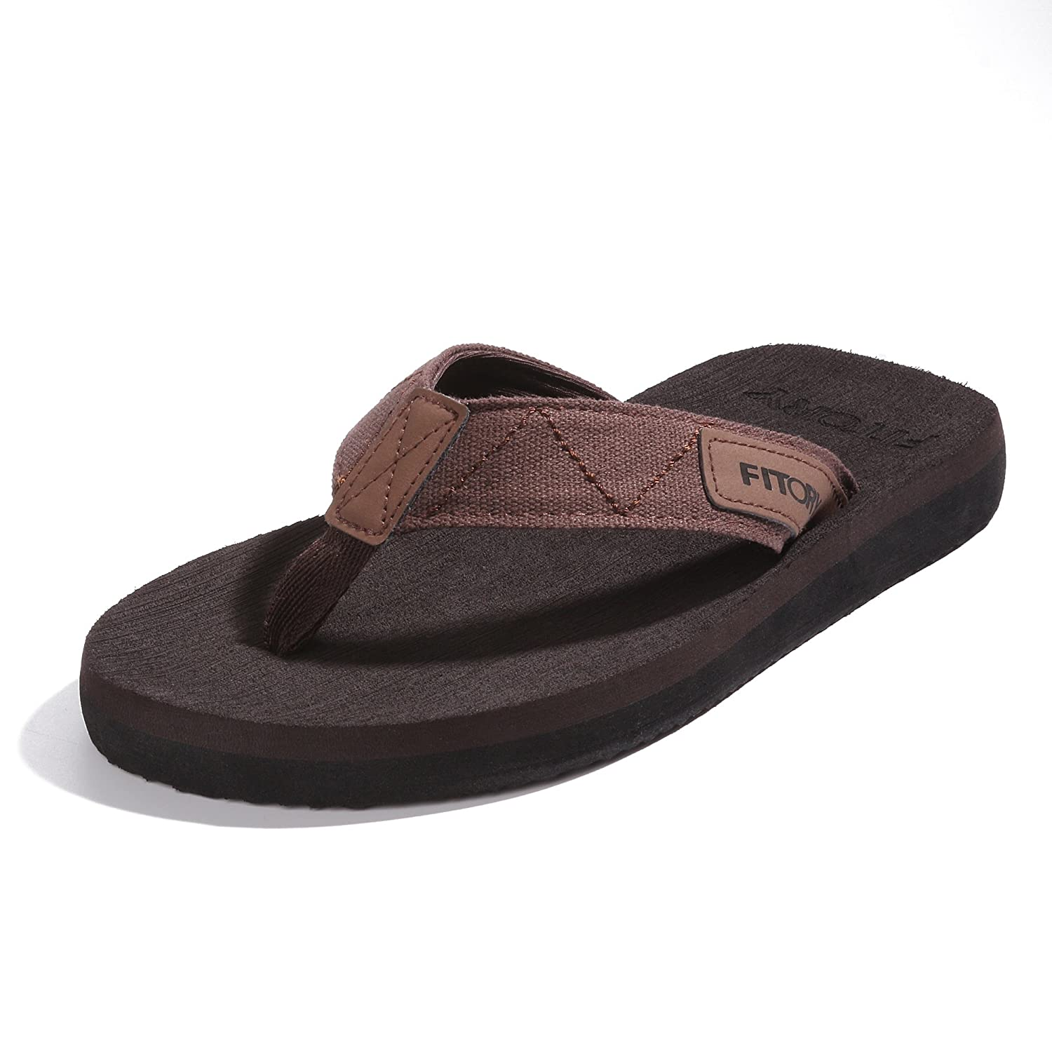 FITORY Men's Flip-Flops, Arch Support Thongs Comfort Slippers for Beach Size 7-13 FITORY Men's Flip-Flops