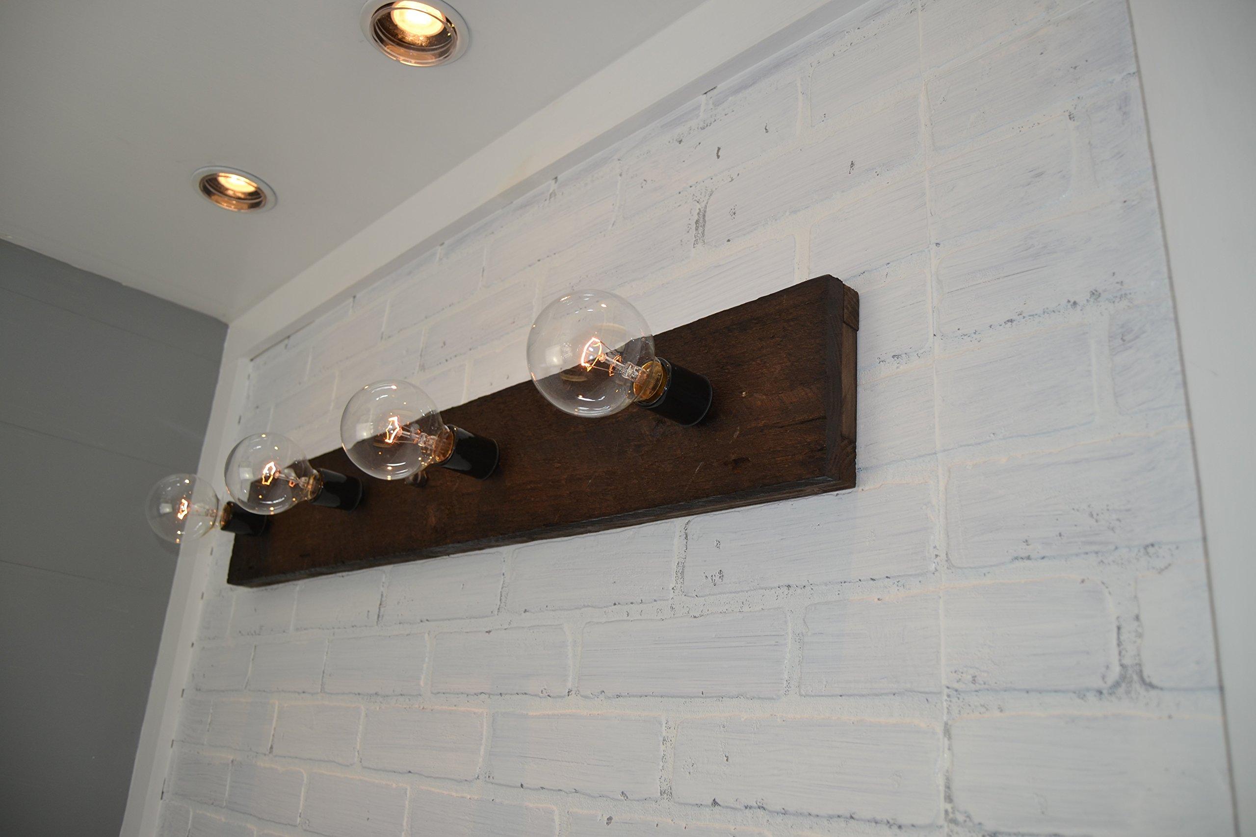 Wood Vanity Light by West Ninth Vintage (Image #4)