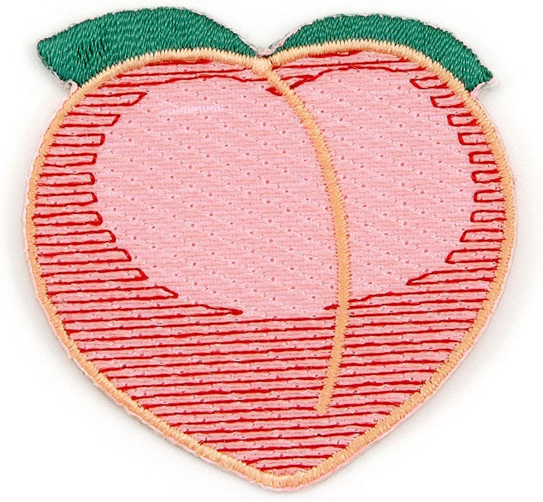 Embroidery Peach art Peach emoji  Peachy Embroidery