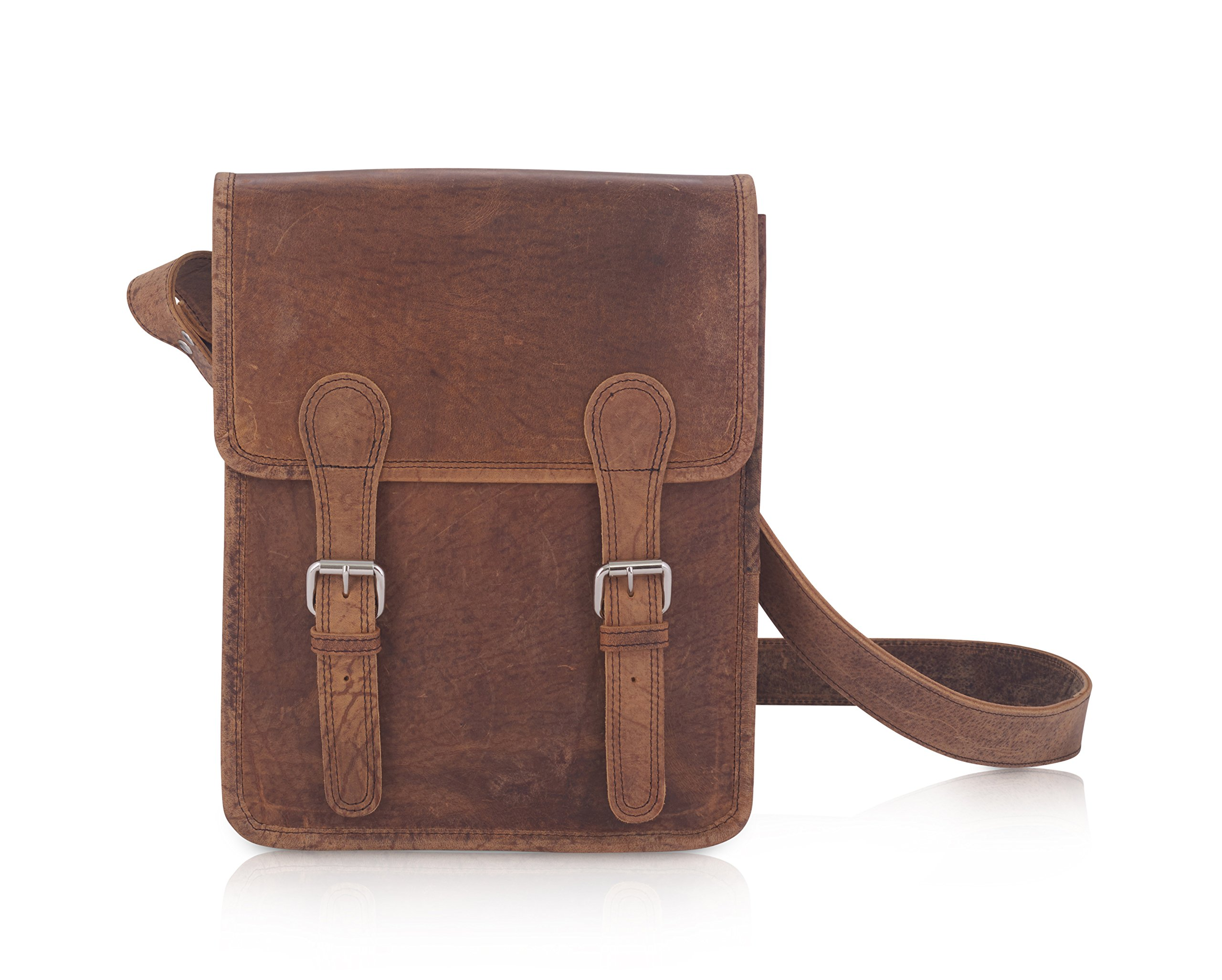 Komalc 11 Inch Vintage Hunter Leather Satchel for Ipad / TabletsSALE by KomalC (Image #1)