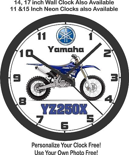 2017 Yamaha YZ250 X motocicleta pared clock-free EE. UU. Barco.