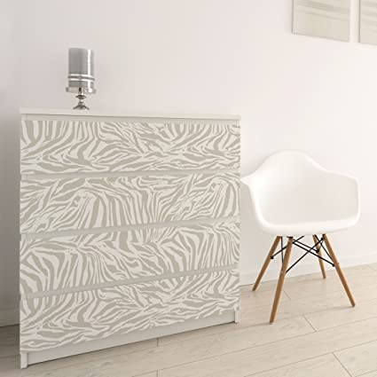 Carta Adesiva per Mobili - Zebra Design light gray stripe pattern ...