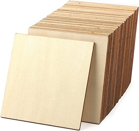 50pcs Unfinished Wood Pieces 4x4 Inch Square Blank Wooden Wooden Cutouts For Crafts Squares Cutout Tiles Unfinished Wood Cup Coasters Natural Slices Wooden Square Cutouts For Ornaments Homedecoration Amazon Co Uk Kitchen Home