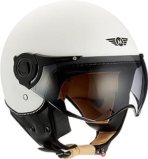 Moto Helmets H44 - Helmet Casco de Moto , Blanco Matte, S (55-