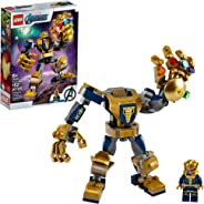 LEGO Marvel Avengers Thanos Mech 76141 Cool Action Building Toy for Kids with Mech Figure Thanos Minifigure, New 2020 (152 Pi