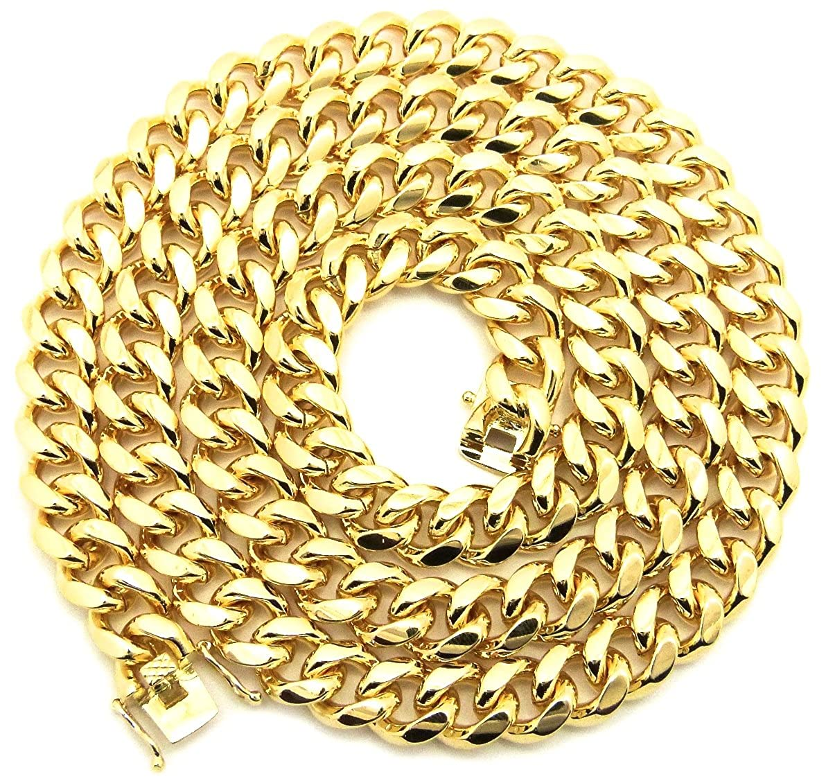 GWOOD Cuban Link Chain Gold Color Necklace