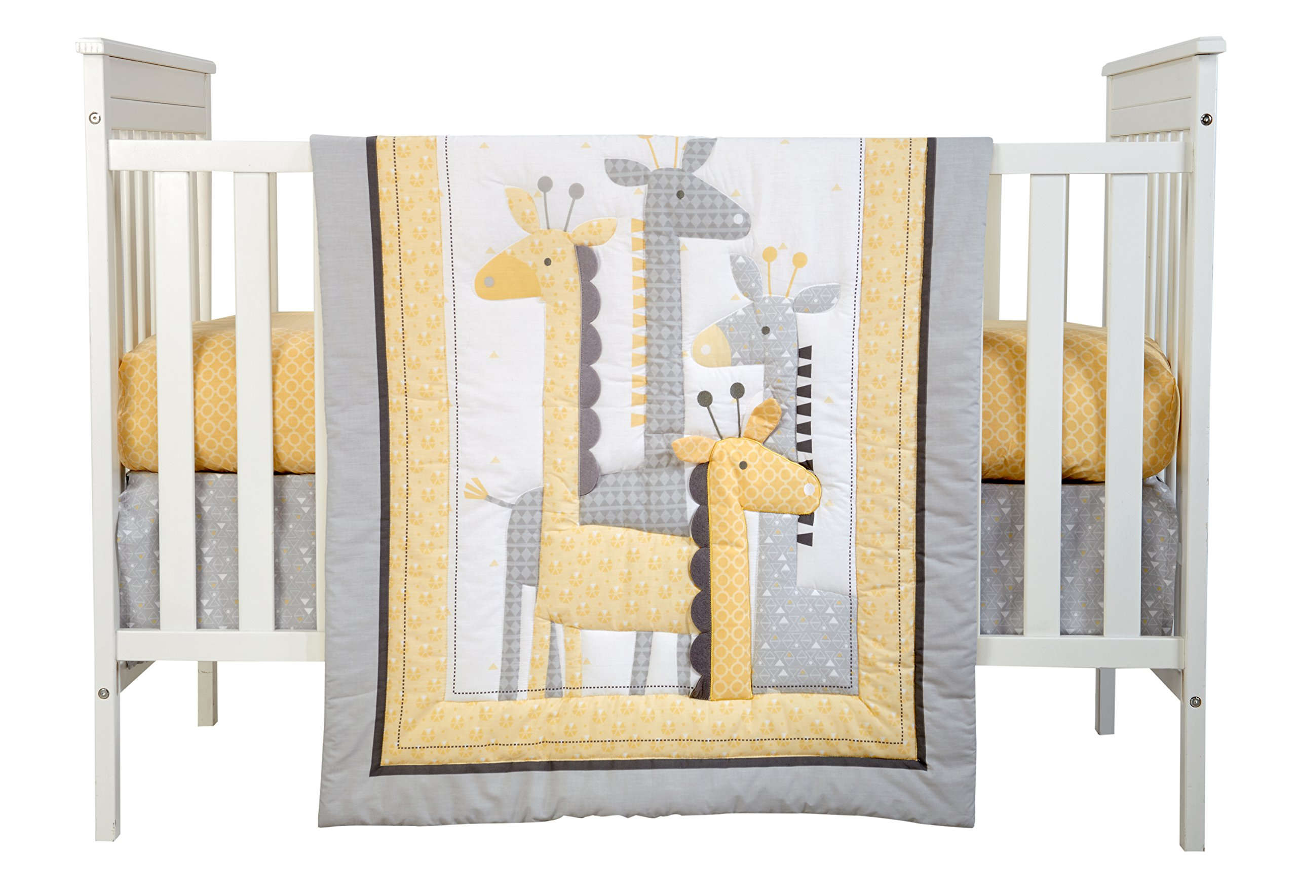 Little Love by NoJo Giraffe Time 4 Piece Bedding Set, Yellow